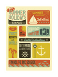 Summer Holidays Poster - Retro Style Summer Poster ポスター :  LanaN.