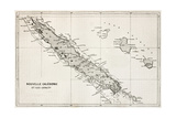 New Caledonia And Loyalty Island Old Map Art by  marzolino