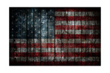 American Flag Painted On Fence Background Prints by  alexfiodorov