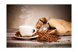 Coffee Still Life With Wooden Grinder Prints by  Jag_cz