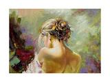 Portrait Of The Exposed Girl Behind Art par  balaikin2009