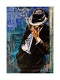Portrait Of The Man With A Cigarette Affiche par  balaikin2009