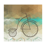Retro Bicycle On A Color Background Posters van  epic44