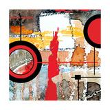 Abstract Art Collage, Mixed Media And Watercolor On Paper Posters av Andriy Zholudyev