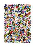 Handmade Alphabet Collage Of Magazine Letters Plakater av  donatas1205