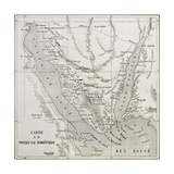 Old Map Of Sinai Peninsula. Created By Erhard, Published On Le Tour Du Monde, Paris, 1864 Prints by  marzolino