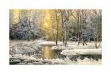 Winter Landscape With The Wood River Affiches par  balaikin2009