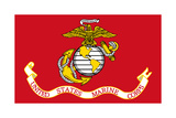Illustration Of The United States Marine Corps Flag Print by  Speedfighter