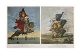 Old Caricature Maps Of England-Wales And Scotland Posters af  marzolino