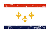 New Orleans City Flag, State Of Louisiana, U.S.A Posters by  Speedfighter