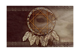 American Dreamcatcher With Wolf Eye Art by  Sateda