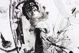 Black And White Abstract Brush Painting Plakater af  shooarts