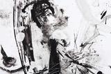 Black And White Abstract Brush Painting Posters tekijänä  shooarts
