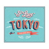 Vintage Greeting Card From Tokyo - Japan 高品質プリント :  MiloArt