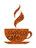 Cup Of Coffee Made From Typography Kunstdruck von  Marish