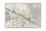 Old Caucasus Map Prints by  marzolino