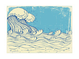 Huge Wave In Sea Art by  GeraKTV