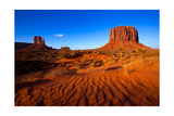 Monument Valley West Mitten And Merrick Butte Desert Sand Dunes Utah Poster by  holbox