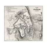 Old Plan Of Jerusalem Prints by  marzolino