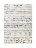 Old Reproduction Of Hamlet Score Prints by  marzolino