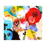Abstract Graffiti Collage, Digital Painting Kunst av Andriy Zholudyev