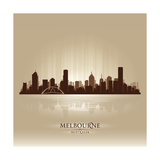 Melbourne Australia Skyline City Silhouette Posters av  Yurkaimmortal