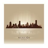 Melbourne Australia Skyline City Silhouette Posters por  Yurkaimmortal