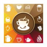 Coffee And Tea Icons Julisteet tekijänä  venimo