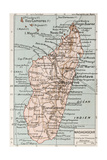 Madagascar Old Map Posters by  marzolino