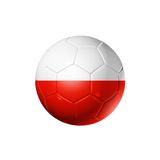 Soccer Football Ball With Poland Flag Poster par  daboost