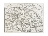 Old Map Of Hungary. By Unidentified Author, Published On Magasin Pittoresque, Paris, 1850 Prints by  marzolino
