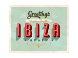 Vintage Touristic Greeting Card - Ibiza, Spain Poster von Real Callahan