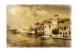 Kastelorizo Bay - Artistic Retro Styled Picture Kunst af  Maugli-l