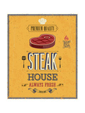 Vintage Steak House Poster Poster by  avean