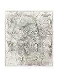 Jerusalem Old Map Prints by  marzolino