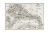 Antilles Old Map. Created By Vuillemin And Erhard, Published On Le Tour Du Monde, Paris, 1860 Poster by  marzolino