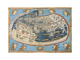 Map Of The World (In Those Days Known) Poster af  marzolino