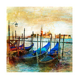 Mystery Of Venice - Artwork In Painting Style Posters por  Maugli-l