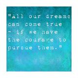 Inspirational Quote By Walt Disney On Earthy Background Láminas por  nagib
