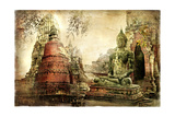 Ancient Cities Of Thailand - Artwork In Painting Style Prints by  Maugli-l