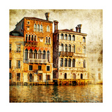 Traditional Venice - Artwork In Painting Style Posters av  Maugli-l