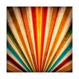 Multicolor Sunbeams Grunge Background. A Vintage Poster Prints by  molodec