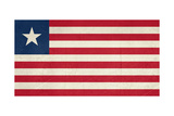 Grunge Sovereign State Flag Of Country Of Liberia In Official Colors Print by  Speedfighter
