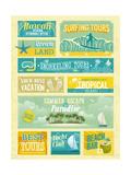 Vintage Summer Holidays And Beach Advertisements Poster von  avean