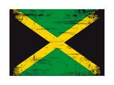 Jamaican Grunge Flag An Old Jamaican Flag Whith A Texture Print by  TINTIN75