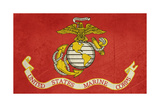 Grunge Illustration Of The United States Marine Corps Flag Posters par  Speedfighter