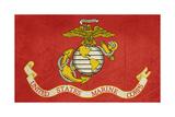 Grunge Illustration Of The United States Marine Corps Flag Poster von  Speedfighter