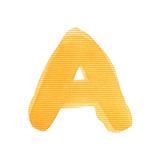 Handwritten Watercolor Alphabet Letter, Isolated Plakater av  donatas1205