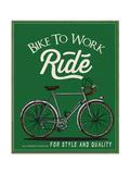 Vintage Retro Race Rider Bicycle With Label 2 Art par  studiohome