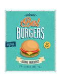 Vintage Burgers Poster Juliste tekijänä  avean